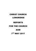 Christ Church AGM Report 2017